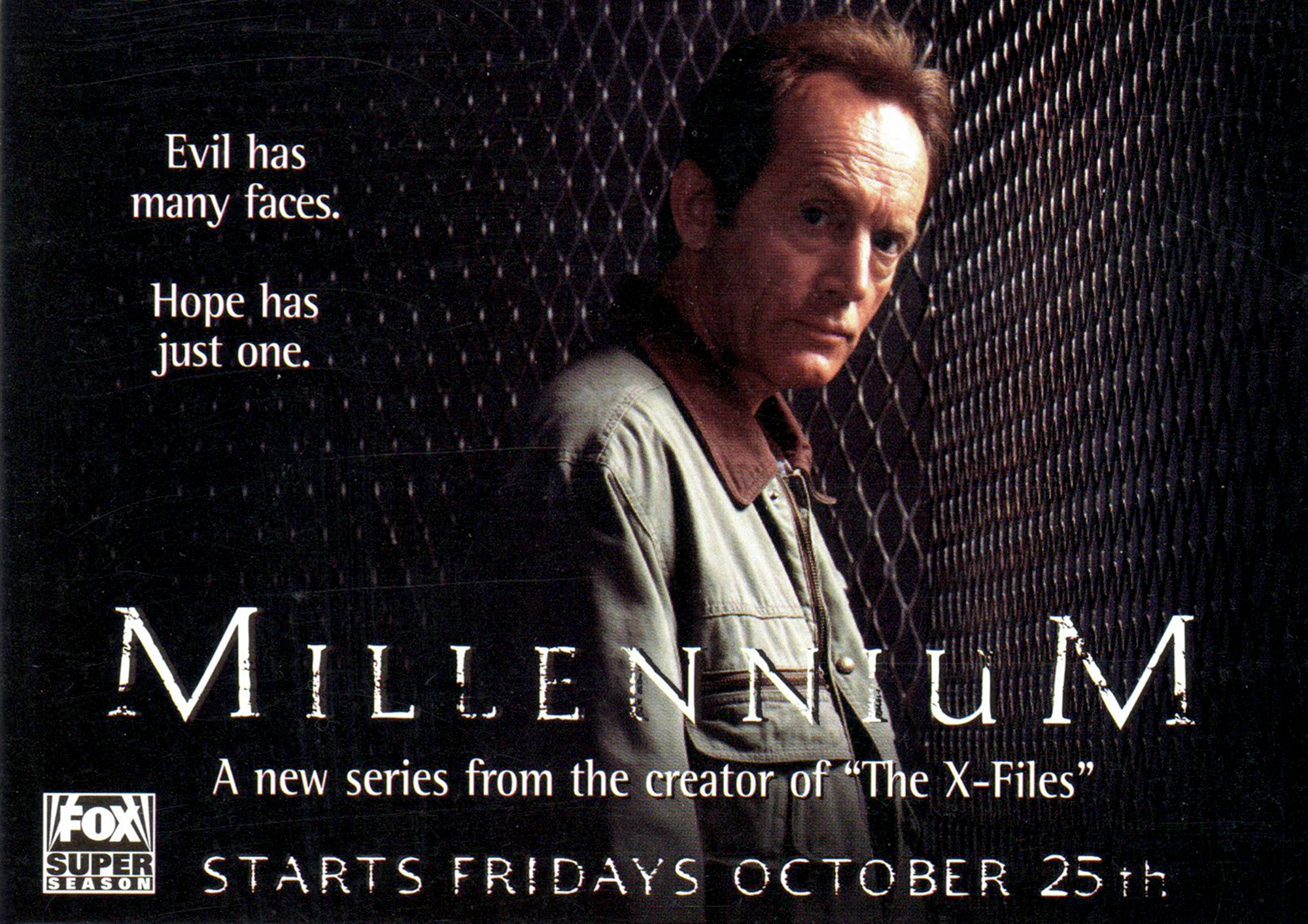 Millennium TV series (1996-1999) starring Lance Henriksen, Megan Gallagher, Terry O'Quinn, Brittany Tiplady, Klea Scott and Bill Smitrovich - From Chris Carter (The X-Files) - dvdbash.com